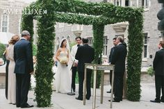 chuppah mandap covered in foliage
