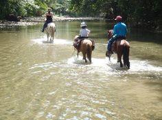 Horse Riding through rivers, Dominican Republic