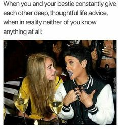 Ideas for hair quotes funny thoughts life Funny Best Friend Memes, Crazy Funny Memes, Really Funny Memes, Stupid Memes, Funny Relatable Memes, Haha Funny, Funny Texts, Funny Jokes, Bff Quotes Funny