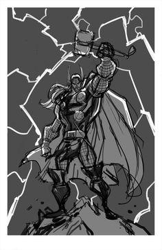 Sketch::Thor by Khary Randolph