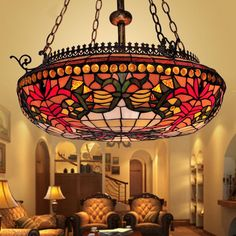 22 best BYB Vintage Tiffany Style Lamp images on Pinterest | Ceiling ...