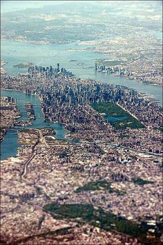 A great bird's eye view over New York City, USA.