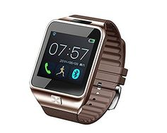 """Aberobay New V8 1.54"""" Wirst Multi-function Smart Watch Bluetooth 4.0 Cell Phone Mate Partner Sync Pedometer Step Walking Counter Activity Tracker Sleep Monitoring Music Player Anti-Lost Dialing Remote Camera Notification Burglar Alarm Ring Vibration for Android 4.0+ IOS 7.0+ Smartphones, Compatable with iPhone 4/4s/5/5s/6 plus Samsung S4/Note 3 HTC Android phone-Golden. Remote notification: Now you can find the V8 intelligent watch can push the news of all software installed on your…"""