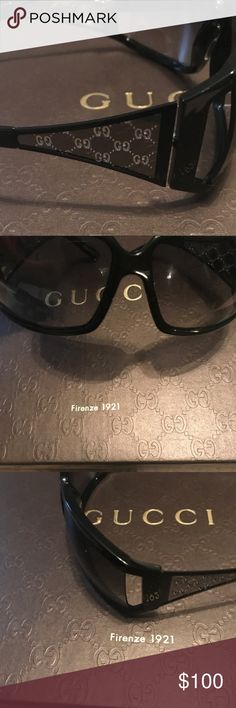 b61ee67c14a Authentic Gucci Sunglasses Authentic Gucci Sunglasses only worn once. Gucci  G s on the arms of