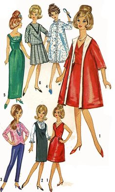 Vintage Doll Clothes Pattern 5731 for a 11.5 inch by BlondiesSpot