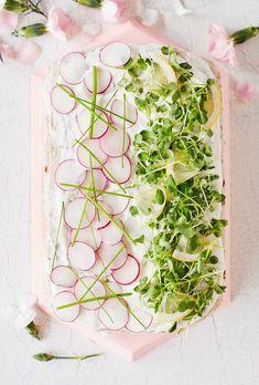 Sandwich Cake, Sandwiches, Vegetables, Food, Decor, Decoration, Essen, Vegetable Recipes, Meals