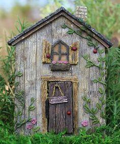 Look at this #zulilyfind! Lady Bug Fairy Door Garden Décor #zulilyfinds