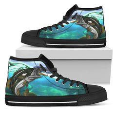 Canvas Bass Fish Shoes Women's High Tops Custom Bags, Custom Shoes, Printed Bags, Black Canvas, Bass Fishing, Shoe Sale, Snug Fit, High Tops, High Top Sneakers
