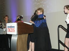 The National Down Syndrome Society honored Patti Saylor Wednesday night for her tireless advocacy on behalf of people with Down Syndrome.  Here, she shares an embrace with WUSA9's Debra Alfarone.