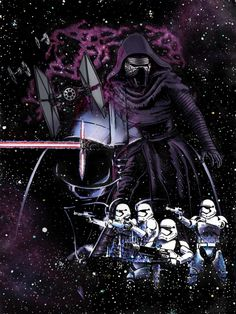 Art Awakens Contest: Have You Felt It? The Dark Side…9 x 12 ink on illustration board, Photoshop coloring. by Tom Byrnes