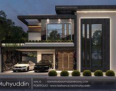 Modern Bungalow Exterior, Modern Exterior House Designs, Modern House Facades, Modern Architecture House, Exterior Design, Classic House Design, Simple House Design, House Front Design, Modern House Design