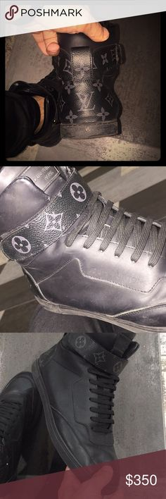 Loui V high tops Fresh they are used I️ have ordinal bag and box serial number on the inside of the shoes purchased at the atrium of Hong Kong Authentic no low balls Louis Vuitton Shoes Sneakers