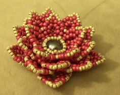beaded flower tutorials - Google Search