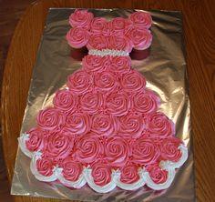 Pink Princess Cupcake dress Birthday cake 05/03/14