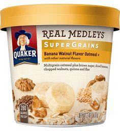 Product: Hot Cereals - Quaker Real Medleys,Banana Walnut oatmeal | QuakerOats.com