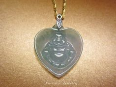 $39.00 Happy Buddha in Your Heart Carved Green Jade Pendant Necklace- Fortune Jewelry Feng Shui Talisman by Fortune Jewelry & Healing Beauty, http://www.amazon.com/dp/B00CFGKZWK/ref=cm_sw_r_pi_dp_5IuLrb0MQVQ2G