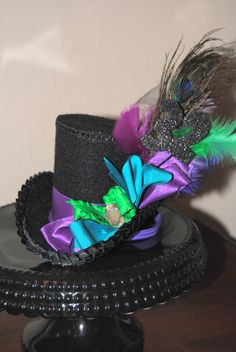 Mini Top HAT- Top Hat For Birthday, Mad Hatter, Circus  to Ladies Night Out For Girls to Women - KROWN Kreations