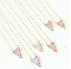 Druzy Triangle Necklace