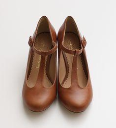 Pot & Stripes T Strap Heels