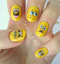 Many Faces of Spongbob Nails