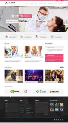 Dictate - Business, Fashion, Medical, Spa WP Theme by mona lisa, via Behance