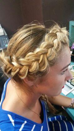 Inverted braid on Jamie. Just for fun. #flowerchild #braidbar