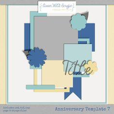 Scrapbooking TammyTags -- TT - Designer - Queen Wild Scraps,  TT - Item - Template*