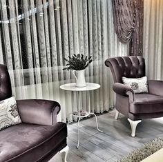 Bergere, Purple, Curtain, Coffee Table What's Decoration? Decoration may be the art of decorating the interior and exterior of the … Home Decor Near Me, Home Decor Wall Art, Cheap Home Decor, Fancy Living Rooms, Purple Accents, Home Wallpaper, Deco Furniture, Fashion Room, Home Accents