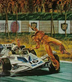 Moment of impact :Tom Pryce Sport Cars, Race Cars, Nascar Wrecks, F1 Crash, F1 Wallpaper Hd, Tom Price, Gp F1, Speed Art, British Grand Prix