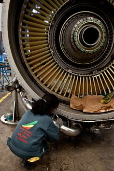 Ethiopian Airlines Maintenance Hangar Tour Aviation Mechanic, Hidden House, Aircraft Maintenance, Gas Turbine, Landing Gear, Storage Places, Yellow And Brown, Bars For Home, Motors