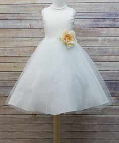 87fa098ef Petite Adele Ivory Overlay A-Line Dress - Toddler & Girls   zulily  Toddler