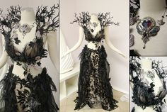 Unseelie Faerie Gown by Lillyxandra on DeviantArt - Kleid - Costume Pretty Dresses, Beautiful Dresses, Faerie Costume, Dark Fairy Costume, Fairy Costumes, Sea Witch Costume, Woodland Fairy Costume, Olaf Costume, How To Wear Belts