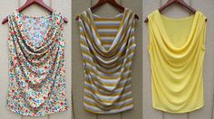 Draped tank tutorial...love these!!