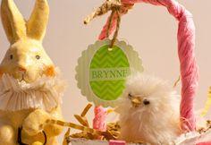 Printable Easter basket name tags