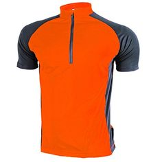 Tankoo Mens Short Sleeve Cycling Jersey Shirt Orange Medium * You can get additional details at the image link.Note:It is affiliate link to Amazon.