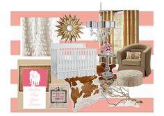 rustic glamour girl's nursery