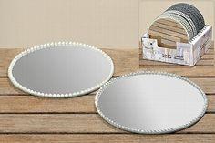 11978B Oglinda cu perle D 18 cm