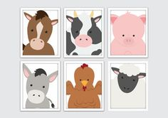 Bauernhof Tiere Kinderzimmer Kunst Bauernhof Tiere Wand