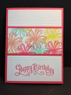 Flower Shop  One Page Wonder Stamping Technique Birthday card Stampin' Up! Rubber Stamping Handmade Cards