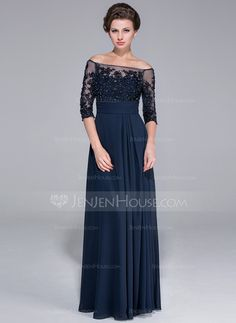 Mother of the Bride Dresses - $154.49 - A-Line/Princess Off-the-Shoulder Floor-Length Chiffon Tulle Mother of the Bride Dress With Lace Beading Sequins (017025450) http://jenjenhouse.com/A-Line-Princess-Off-The-Shoulder-Floor-Length-Chiffon-Tulle-Mother-Of-The-Bride-Dress-With-Lace-Beading-Sequins-017025450-g25450?ver=1