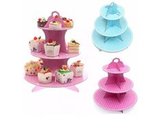 3 Tier Cardboard Cupcake Stand For Party Muffins Cardboard Cake Stand, Paper Stand, Birthday Weekend, Birthday Parties, 3 Tier Cake Stand, Cupcake Stands, Cake Holder, Wedding Cake Stands, Party Buffet