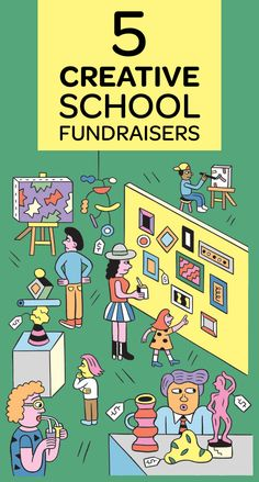 The Art of School Fundraising We scoured the country for fun, creative fundraisers that go beyond the bake sale — and are still a relative breeze to pull off. Pta School, School Clubs, School Auction, School Fundraisers, School Events, School Fundraising Ideas, Fundraising Activities, Creative Fundraising Ideas, School Stuff