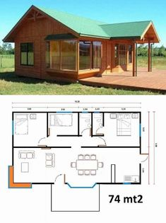 You don't necessarily have to build your house in the style that's prominent in your region. Therefore, in case you have got a new house or an apartme. Dream House Plans, Small House Plans, House Floor Plans, Town Country Haus, Tiny House Cabin, Building A Shed, Building Plans, Cabins And Cottages, Small House Design