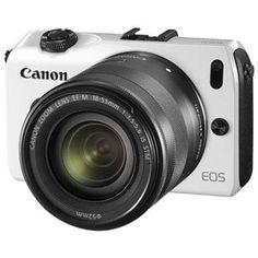 Canon EOS M Blanc + Obj. EF-M IS STM 18 - 55 mm f/3.5 - 5.6 - Fnac.com - Appareil photo numérique