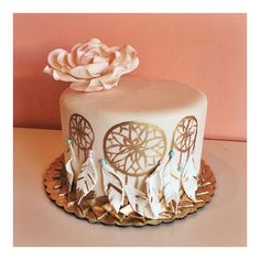 Hand-painted Dream Catcher Cake by 2tarts Bakery / New Braunfels, TX / www.2tarts.com