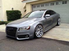 Audi B8 A5 Modified Tuned Stance Slammed Custom Rims Metallic Grey