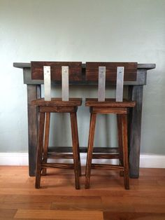 Handmade Rustic Accent or Bar Table by EclecticHomeLiving on Etsy