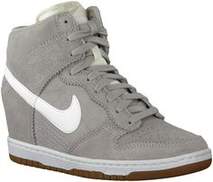 00e2f87e08c women s Nike dunk sky hi wedge sneakers - pale grey