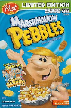 Flintstones Post Marshmallow Pebbles Cereal Box, 2012