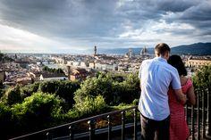 Looking at the sunset _ view of Florence